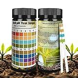 Not application pH Bodentest, 100 Streifen Boden PH Teststreifen Boden pH Tester 0-14 PH Pflanze Tester für Pflanzenerde, Gartenbau, Bauernhof, Rasenpf